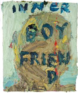 Georgina Gratrix | Inner Boyfriend | 2013 | Oil on Board | 26.5 x 23 cm