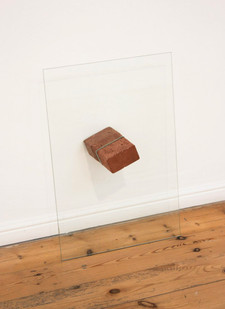 Mitchell Messina | I had to be very careful during the revolution because I was wearing flip-flops | 2014 | Brick and Glass Pane | 60 x 40 x 20 cm | Edition of 5