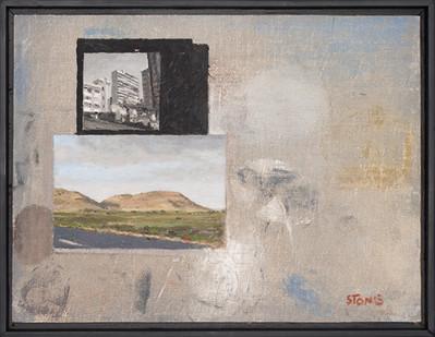 Simon Stone | Untitled | 2017 | Oil on Board | 32 x 42 cm