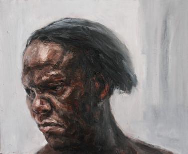 Johann Louw | Portret na Links | 2012 | Oil on Plywood | 41 x 51.5 cm