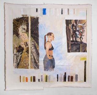 Simon Stone | The Thermometer Blues | 2016 | Oil on Canvas | 210 x 212 cm