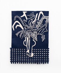 Jody Paulsen | Midnight Blue and Ivory II | 2020 | Felt Collage | 76 x 58 cm