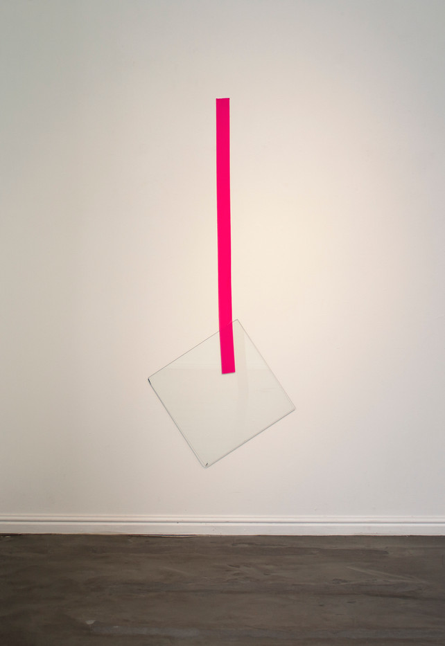 Ruann Coleman | Stay | 2014 | Glass and Duct Tape | 132 x 54 x 0.3 cm