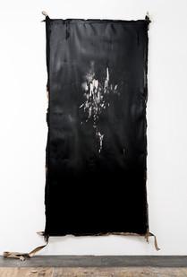 Alexandra Karakashian | Descend I | 2018 | Oil & Salt on Sized Paper | 281 x 142 cm