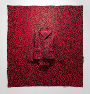 Jody Paulsen | The Singleton Years (Red) | 2016 | Felt Collage | 187 x 171 cm
