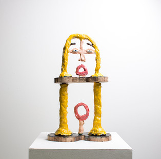 Marlene Steyn | The Scream (Echo-Oh's) | 2016 | Oil on Ceramic and Wood | 36 x 22 x 9 cm