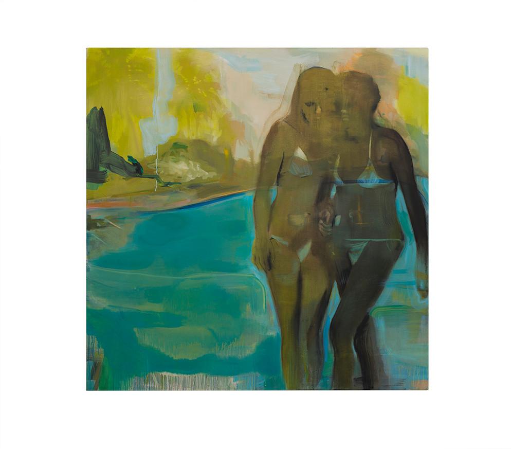 Kate Gottgens   Ambergris   2018   Oil on Canvas   150 x 150 cm
