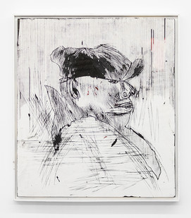 Gareth Nyandoro | Legal hustle I | 2019 | Ink on Paper, Mounted on Board | 61 x 54 cm