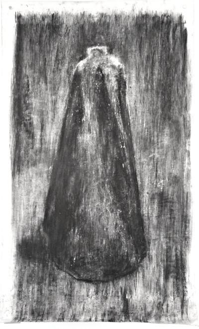 Johann Louw | Groot Mantel | 2016 | Charcoal on Paper | 210 x 130 cm