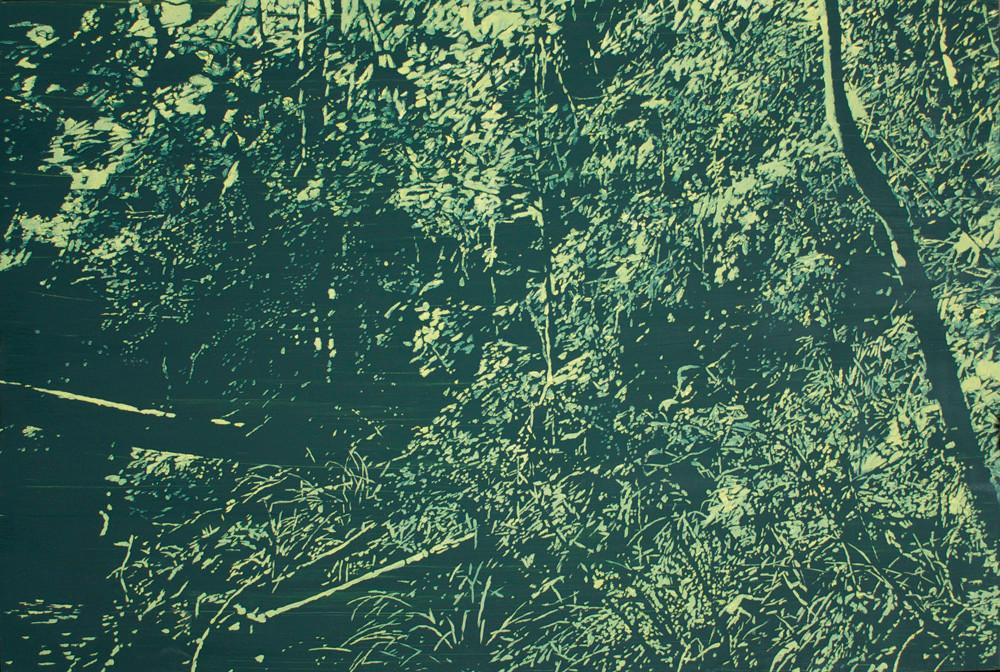 Peter Eastman | Deep Chine XI | 2014 | Oil on Aluminium | 50 x 74.5 cm