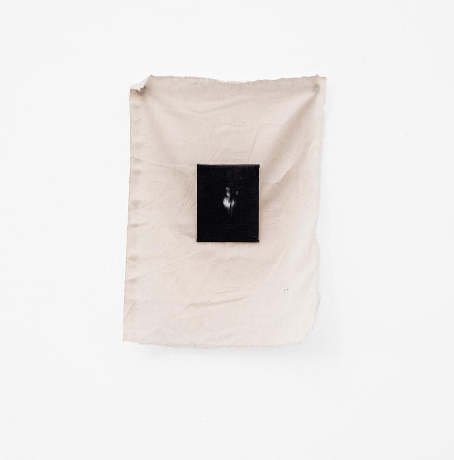 Alexandra Karakashian | Yaskmak II | 2018 | Oil on Canvas and Fabric | Dimensions Variable