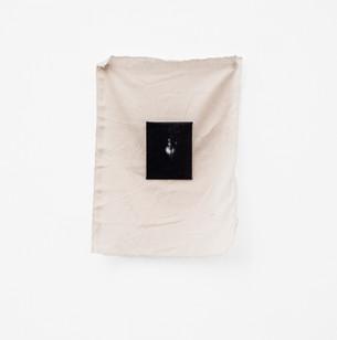 Alexandra Karakashian   Yaskmak II   2018   Oil on Canvas and Fabric   Dimensions Variable