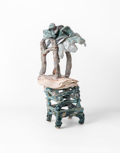 Jeanne Hoffman | Shipwrecked Cargoes 3 | 2020 | Stoneware and Porcelain | 35 x 15 x 12 cm