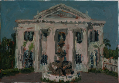 Anton Karstel | Property (Campsbay) 2 | 2014 | Oil on Canvas | 29 x 42 cm