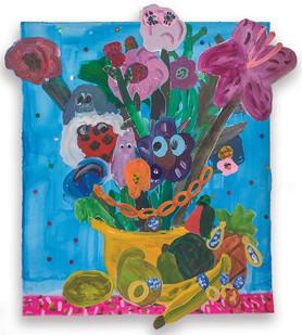 Georgina Gratrix | Return of the Mac | 2016 | Oil on Paper | 111 x 100 cm