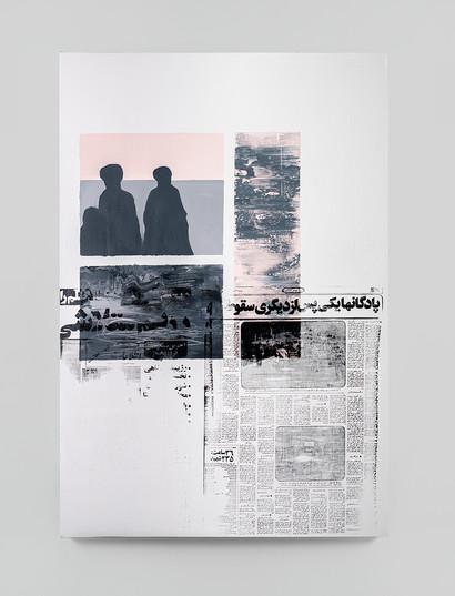 Sepideh Mehraban   Dusk   2021   Mixed Media on Canvas   110 x 75 cm