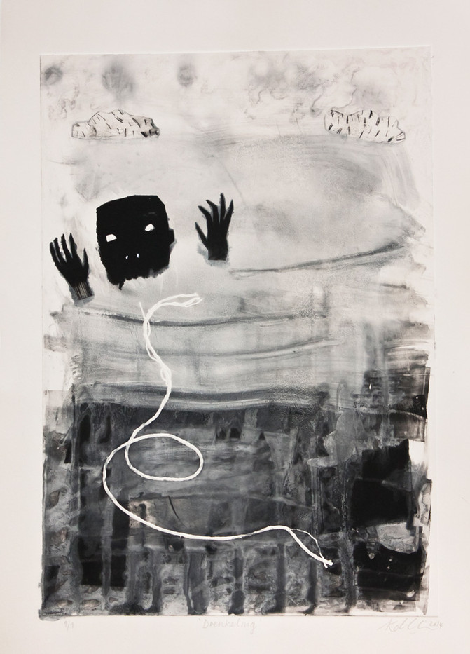 Karlien De Villiers | Drenkeling | 2014 | Monoprint | 41 x 29 cm