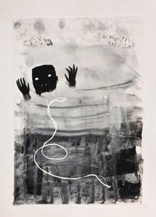 Karlien De Villiers   Drenkeling   2014   Monoprint   41 x 29 cm