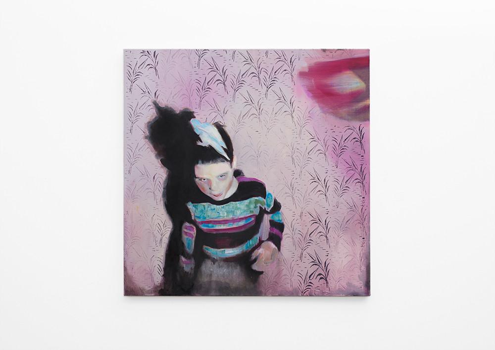 Kate Gottgens   Blue Bird   2017   Oil on Canvas   95 x 95 cm
