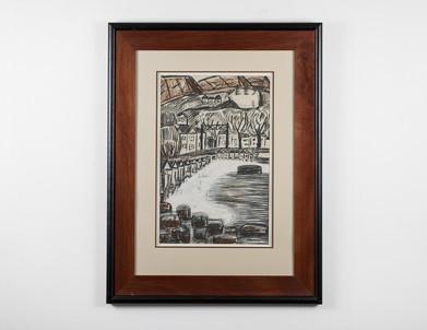 Charles Gassner   St James   n.d.   Charcoal Pastels on Paper   85 x 63 cm