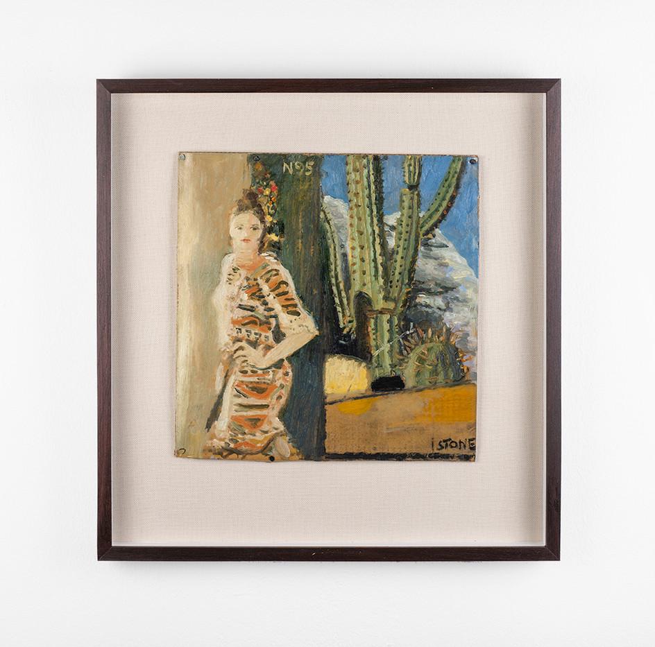 Simon Stone | Cactus | 2020 | Oil on Cardboard | 32 x 32 cm