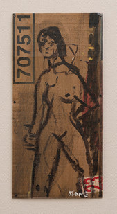 Simon Stone   Rough Nude   2016   Oil on Cardboard   31 x 15.5 cm