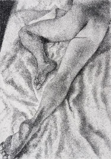 Frances Goodman   Figure Study II   2020   False Eyelashes, Methyl Cellulose, Fabriano Paper   100 x 71 cm