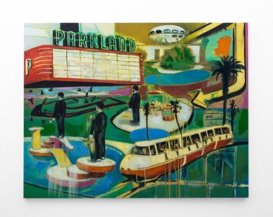 Kate Gottgens | Parkland | 2018 | Oil on Canvas | 140 x 180 cm