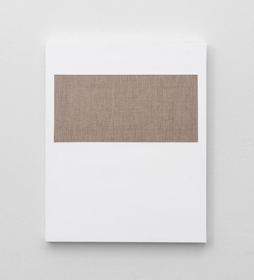 Pierre Vermeulen | Gesso Space nr 1 | 2020 | Gesso on Belgian Linen | 50 x 40 cm