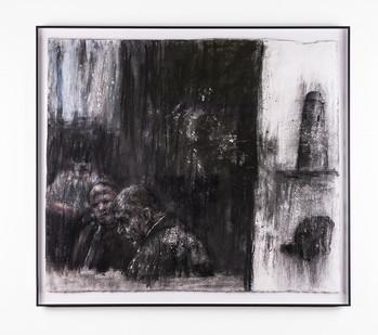 Johann Louw | Oppad na die Toring | 2018 | Charcoal on Paper | 62 x 71 cm