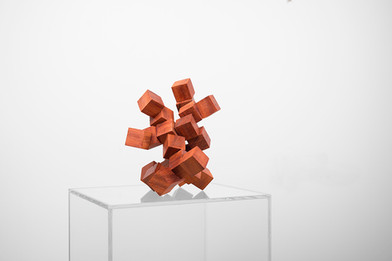 Ruann Coleman | Study VIII (Reduced to 30 mm) | 2017 | Radaui Wood | 23 x 20 x 17 cm