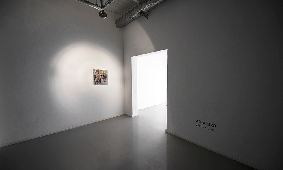 Asha Zero | v5cml/reply | 2018 | Installation View