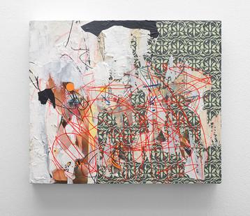 Asha Zero | ec 1 | 2016 | Acrylic on Board | 36.5 x 43 cm