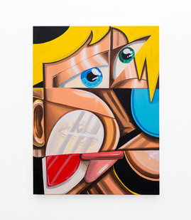 Callan Grecia | TWIN (1) | 2021 | Acrylic on Canvas | 102 x 76 cm