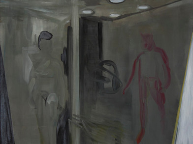 Kate Gottgens | Behind the Door | 2014 | Oil on Canvas | 68 x 90 cm