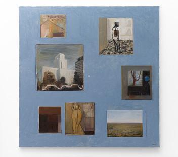 Simon Stone | Blue Seven | 2017 | Oil on Canvas | 190 x 190 cm