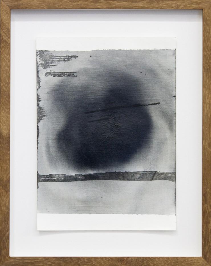 Alexandra Karakashian | Achromatic L | 2017 | Oil on Sized Paper | 23.5 x 17 cm
