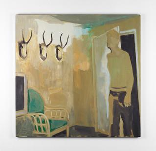 Kate Gottgens | Interior - Horns | 2016 | Oil on Canvas | 80 x 78 cm