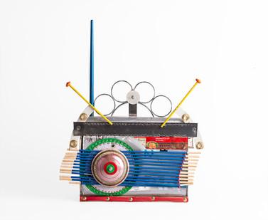 Cyrus Kabiru | Antenna | 2020 | Steel and Found Objects | 41.5 x 32 x 18 cm