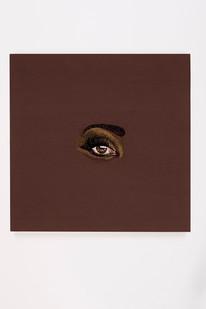 Frances Goodman | Black Betty | 2018 | Hand-Stitched Embroidery on Satin | 45 x 45 cm