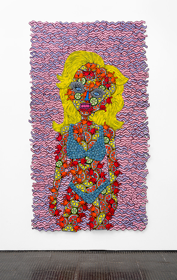 Jody Paulsen | Juicy I | 2020 | Felt Collage | 238 x 139 cm