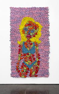 Jody Paulsen | Juicy I | 2020 | Felt Collage | 238 x 139 cm