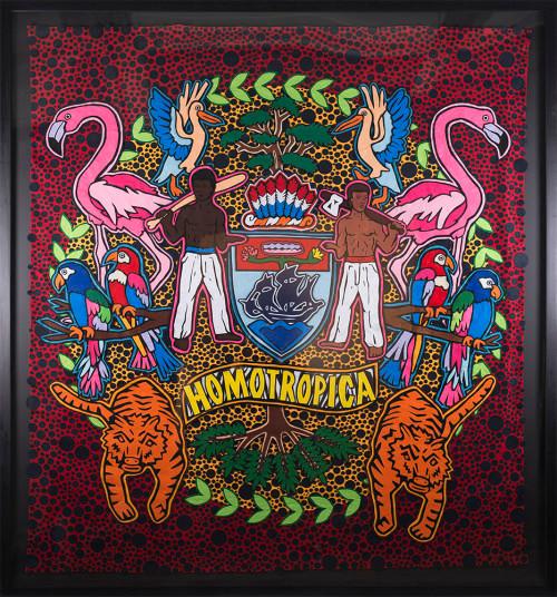 Jody Paulsen   Homotropica   2016   Felt Collage   194 x 185 cm