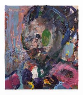 Mostaff Muchuwaya   Untitled   2018   Acrylic and Glue on Canvas   69.5 x 59 cm