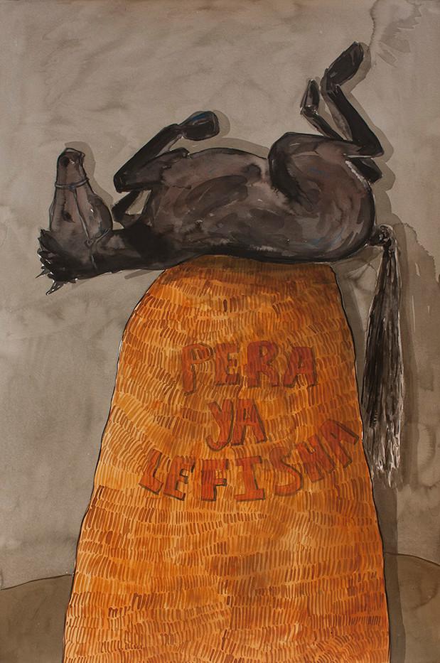 Colbert Mashile   Pera ya Lefisha   2014   Watercolour on Paper   121 x 80 cm