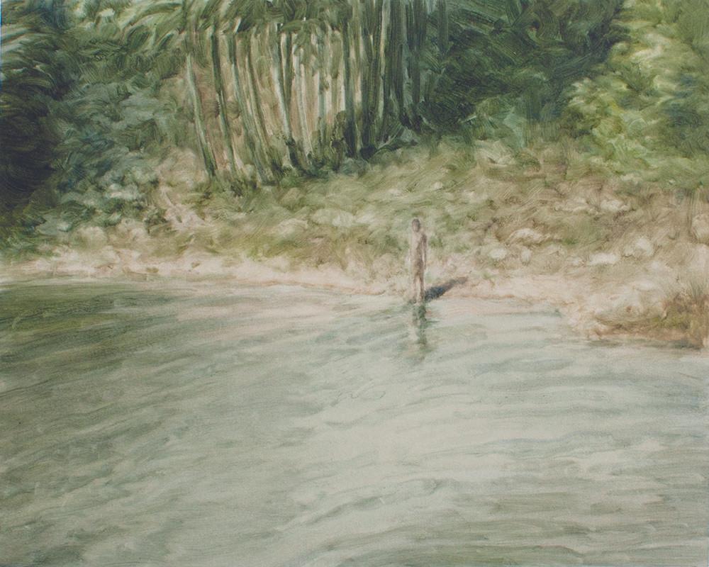 Jake Aikman | N10.856741, W85.775119 | 2013 | Oil on Paper | 31 x 40 cm