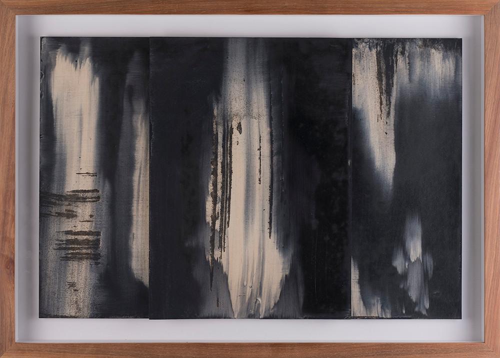 Alexandra Karakashian | Fall (Study I) | 2017 | Oil on Sized Paper | 31.5 x 22.5 cm Each