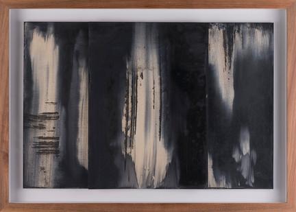 Alexandra Karakashian   Fall (Study I)   2017   Oil on Sized Paper   31.5 x 22.5 cm Each