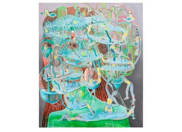 Marlene Steyn | submardreaming | 2019 | Oil on Canvas | 180 x 150 cm