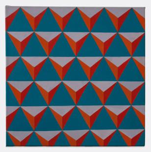 Trevor Coleman | Pyramidal | 1969 | Acrylic on Canvas | 51 x 51 cm